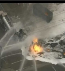 Video: Fighting a Fuel Truck Fire