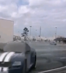 Video: Idiot Doing Donuts Gets Hit By Truck